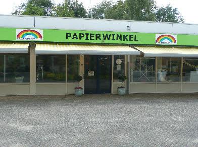 Vooraanzicht Papierwinkel